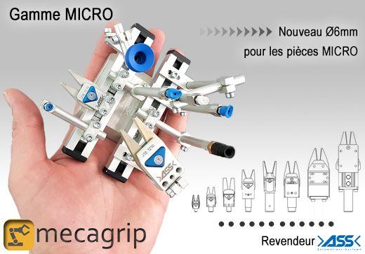 Gamme micro ASS, pinces, ventouses, profilés